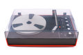 Turntable, audio, for playback of vinyl records, from the 70s of last century Royalty Free Stock Photo