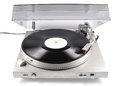 Turntable, audio, for playback of vinyl records, from the 80s of last century Royalty Free Stock Photo