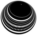 Turntable plate distorted Royalty Free Stock Photos