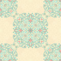 Turqoise pink floral seamless pattern Royalty Free Stock Photos