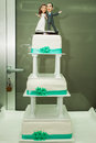 Turqoise wedding cake Stock Photography