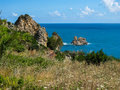 Turqouise sea sicily italy Royalty Free Stock Photography