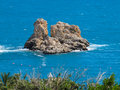 Turqouise sea sicily italy small island Stock Photo