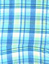 Turquaz checked cloth Royalty Free Stock Photography