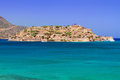 Turquise water of mirabello bay on crete greece Royalty Free Stock Images