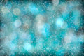 Turquoise aqua abstract starlight bokeh background beautiful Royalty Free Stock Images
