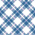 Turquoise blue, red and white color tartan seamless pattern. Checkered plaid texture. Geometrical simple square background Royalty Free Stock Photo