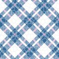 Turquoise blue, red and white color tartan seamless vector pattern. Checkered plaid texture. Geometrical simple square background Royalty Free Stock Photo