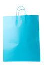 Turquoise Blue Shopping Bag Isolated Stock Photography