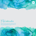 Turquoise and blue watercolor abstract frame Royalty Free Stock Photo