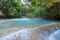 Turquoise blue waterfalls in Chiapas, Mexico Royalty Free Stock Photo