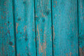 Turquoise board with peeling paint Royalty Free Stock Photo