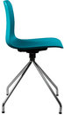 Turquoise color plastic chair, modern designer. Swivel chair isolated on white background. furniture and interior