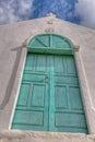 Turquoise Door Royalty Free Stock Photo