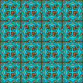 Turquoise elegance seamless pattern Stock Photos