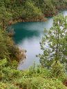 Turquoise Lake in Chiapas Royalty Free Stock Photography