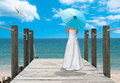 The Turquoise Parasol Royalty Free Stock Images