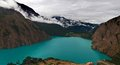 Turquoise Phoksundo lake in Nepal Stock Images