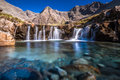 Turquoise pools in scotland also called fairy isle of skye Royalty Free Stock Photography