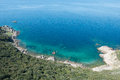 Turquoise sea of corsica france Royalty Free Stock Image