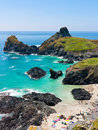 Turquoise sea at Kynance Cove Royalty Free Stock Photos