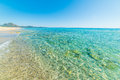 Turquoise sea in Piscina Rei Royalty Free Stock Photo