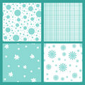 Turquoise seamless tiling textures Royalty Free Stock Photo