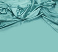 Turquoise Silk Fabric Background