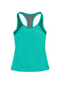 Turquoise sports top with racerback, isolated on white backgroun Royalty Free Stock Photo