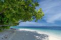 Turquoise tropical paradise white sand beach in papua Stock Images