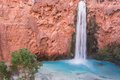 Turquoise water of Mooney Falls Royalty Free Stock Photo