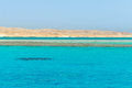 Turquoise water of red sea in egypt Stock Photo