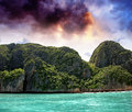 Turquoise waters of beautiful phi phi island thailand Stock Photography