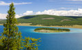 Turquoise waters of khovsgol lake crystal clear in northern mongolia Stock Photo