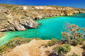 Turquoise waters of milos island greece Royalty Free Stock Image