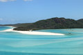 Turquoise waters of Whitsunday Island Royalty Free Stock Photo