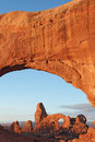 Turrent Arch in Arches National Park Stock Photo