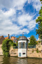 Turret bay window on the river bank Royalty Free Stock Photo