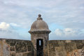 Turret at castillo in old san juan puerto rico fort felipe del morro Royalty Free Stock Images