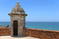 Turret at castillo san cristobal in san juan puerto rico during sunny day Stock Photography