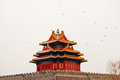 The turret of the forbidden city beijing china Royalty Free Stock Photo