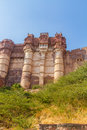 Turrets on the Mehrangarh Fort Royalty Free Stock Photo