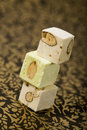Turron nougat blocks Royalty Free Stock Photo