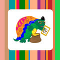 Turtle banker counting money card Royalty Free Stock Photography