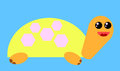 Turtle funny cartoon style funny Royalty Free Stock Photo