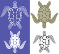 Turtle isolated objects vector illustration eps Stock Photography