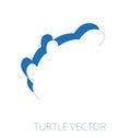 Turtle minimal vector illustration