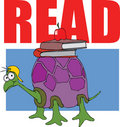 Turtle - Read Books Royalty Free Stock Photo