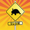 Turtle Road Sign Royalty Free Stock Photo