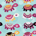 Turtle Seamless Pattern With F...